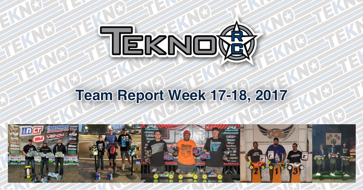 Tekno RC Team Report Week 17-18, 2017
